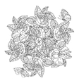 hand drawn wild roses set vector image vector image