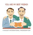 Happy friendship day card 4 August vector image