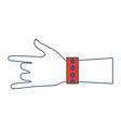 human hand rock and roll gesture icon vector image vector image