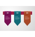 infographics three tapes vector image