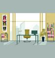 interior personal cabinet senior employee banner vector image