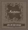 Invitation design template vector image vector image