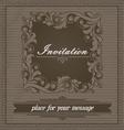 Invitation design template vector image
