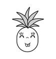 kawaii cute happy pineapple vegetable vector image vector image