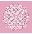 Mandala white lace ornament vector image vector image