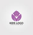 modern baby kids logo templates logos for vector image