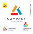 multicolored triangle abstract logo bright vector image vector image
