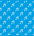 music note pattern seamless blue vector image