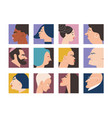 people portraits vector image vector image