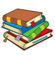 pile of four old books vector image