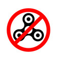 prohibition sign ban spinner vector image vector image
