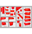 red stikers and banners vector image vector image