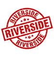 riverside red round grunge stamp vector image vector image