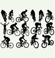 road racing cycling silhouettes vector image vector image