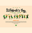 saint patrick s day with vector image