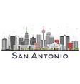 san antonio texas city skyline with gray vector image vector image