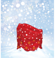 santa bag background vector image vector image