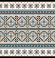 seamless geometric rosette pattern vector image