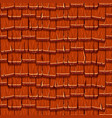 seamless old red wood roof tiles vector image vector image
