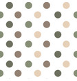 seamless pattern or texture with polka dots vector image vector image
