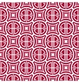Seamless red pattern with the Chinese symbol of vector image