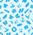 seamless texture marine item summer flat icons vector image