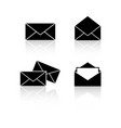 set envelopes reflection icons vector image