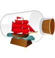 ship boat in a bottle vector image