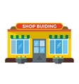 Shop buildings vector image vector image