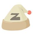 sleeping hat icon cartoon style vector image vector image