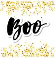 slogan boo phrase graphic print lettering vector image