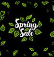 spring sale postcard vector image vector image