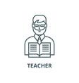 teacher line icon linear concept outline vector image vector image