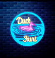 vintage dental emblem glowing neon sign on brick vector image