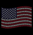 waving american flag stylization of boat steering vector image