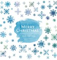 Winter watercolor Christmas background vector image vector image