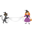 witch banner vector image vector image