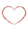 Red heart icon grunge 4 vector image