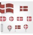 Denmark flag icon vector image