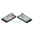 3d map isometric city mobile vector image vector image