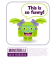 a monster saying this is so funny vector image vector image