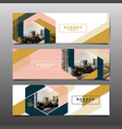abstract layout background set vector image vector image