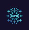 api application programming interface vector image