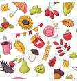 autumn season theme seamless pattern repeating vector image