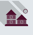 bank in flat style with shadow vector image
