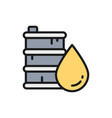 barrel oil flat color line icon vector image