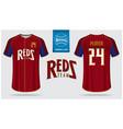 Baseball jersey or raglan t-shirt sport template