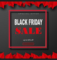 black friday sale poster with shiny balloons on a vector image vector image