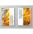 Brochure Multicolored Polygonal Mosaic Backgrounds vector image