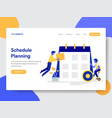 businessman doing schedule planning vector image